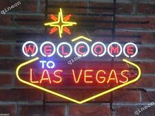 """24"""" Inch New Style Welcome to Las Vegas Game Room Beer Home Bar Neon Sign Light"""