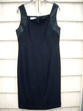 NWT Adam Adam Lippes Black Crepe Satin Trim Dress size 6 retail $425