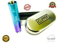 GENUINE CLIPPER METAL BLUE GRADIENT LIGHTER LIMITED EDITION WITH FREE ENGRAVING!
