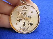 $28 Nordstrom LIBRA Horoscope Sign Zodiac Pendant Medallion Goldtone NO CHAIN