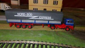 ROSKOPF 479 Ho 1/87 Truck Büssing BS 16L Semi-Remorque Nord-Süd Express
