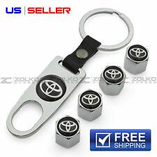 New ListingValve Stem Caps + Keychain Wheel Tire Silver - Us Seller