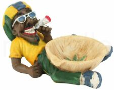 Antique Design Jamaican Man Tobacco Weed Ashtray Rasta Cigarette Smoker Coffee