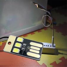 Portable Mini universal USB Laptop 3 LED Light Pocket Card Night Lamp Black KJ