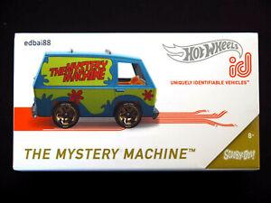 Hot Wheels id Die-cast Series 2 The Mystery Machine Van, Scooby-Doo #01/01 New