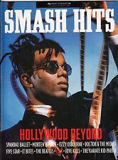 Smash Hits Magazine - 30 July-12 August 1986 - Hollywood Beyond - Pop Music
