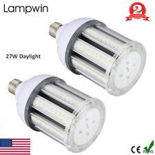 2pc 250W Equivalent 27W LED Corn Bulb 5730 SMD Flood Light E27/E26 2700LM 6500K