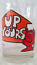 UP Yours Water Juice Beer Soda Clear Glass Cup 13oz