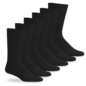 Jefferies Socks Mens Acrylic Nylon Solid Rib Casual Crew Dress Socks 6 Pair Pack