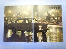 QUATTROR964-PUBBLICITA'/ADVERTISING-1964- FIAT  1500 -2 fogli