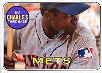 Custom made Topps 1969 New York Mets J.C. Martin baseball card