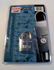 Candado de Marina 30 mm IFAM marca resistente a la corrosión niebla salina probado Almeja Pack