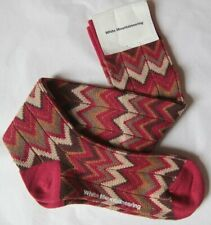 White Mountaineering Zigzag Pattern Long Socks Red / Black Made in Japan