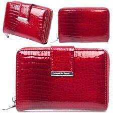 Damen rot lackleder Portemonnaie Damenbörse Geldbörse Geldbeutel Portmonee neu