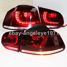 2009-2013 Year For VW Golf 6 MK6 LED Rear Lights Assembly Tail Lamps Dark Red