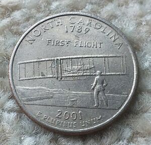 Quarter Dollar 2001P USA North Carolina State Coin  By coin_lovers