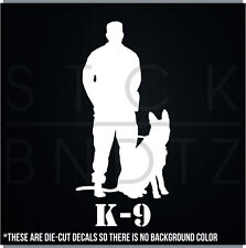 K-9 DOG POLICE ARMY JDM CUTE FUNNY DECAL STICKER MACBOOK CAR WINDOW MOTORCYCLE