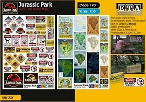1/35 scale Jurassic Park - signs, maps