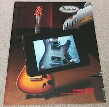 2000 Ibanez Electric Guitar & Bass Catalog Full Color *New*