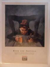 1992 Print Ad Rainier Draft Beer ~ Contortionist Girl Beer & Pretzels