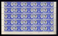 ANTIGUA 1966 ROYAL 6c MINT SHEET of 50 stamps CV £75