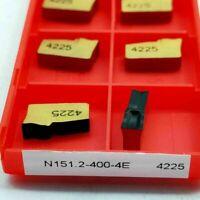 10pcs N151.2-400-4E 4225 4mm width carbide inserts Cut-off blade cutting insert