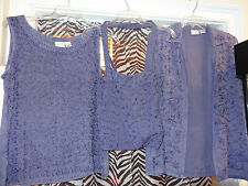 MORE BY LATA 2 Piece Tank & Jacket with Matching Bag Purple Size Small