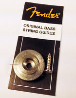 Genuine Fender J/P Bass String Retainer Guide w/ Mounting Screw - Chrome