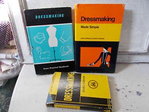 Job lot vintage sewing books dressmaking books x 3 good condition rare