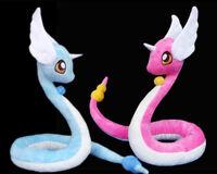 Pokemon GO Pocket Monster Shinny Dragonair Plush Doll Dragon Stuffed Toys Gift