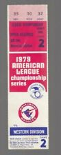Baltimore Orioles 1979 Game 2 American League Championship Ticket