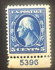 Us Scott 335 Mint Hinged Plate Number # 5396 Stamp $50+