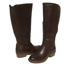 New Women's Fashion Knee High Boots Brown Shoes Winter Snow Ladies size 8