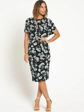 BNWT ROCHELLE HUMES PRINTED PENCIL DRESS WITH KEYHOLE NECKLINE SIZE 12 RRP £74