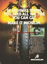 Michelin M48 Tyres Motorcycle 1981 Magazine Advert #2123