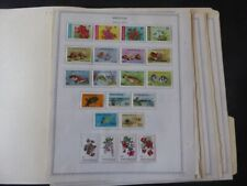 Anguilla 1968-1978 Mint Stamp Collection on Alb Pgs