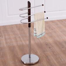 3-Tier Free Standing Floor Towel Holder Hanger Contemporary Bathroom Decor New