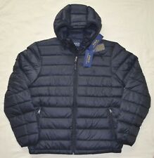 New 2XB 2XL BIG 2X POLO RALPH LAUREN Mens packable puffer down jacket coat Black