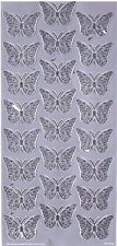 Stickers Butterfly Silver Colour for Scrapbooking sticker Album school