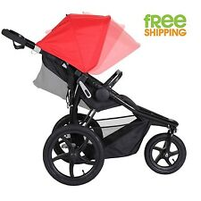 3 Wheel Jogging Stroller Black Red Baby Carriage Sport Pram Lightweight New!
