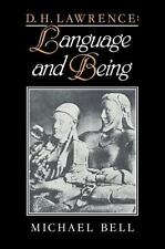 D. H. Lawrence: Language and Being (Paperback or Softback)