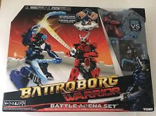 Battroborg Warrior Battle Arena Set, Samurai vs Ninja, New in Box