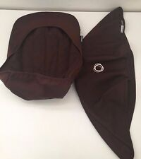 Bundle Bugaboo Cameleon Stroller Canopy Hood Cover Seat Liner Sunshade Brown EUC