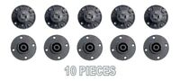 10 pcs 4 Pole Pin Locking Speakon Round Chassis Mount Speaker Pro Audio X-1092