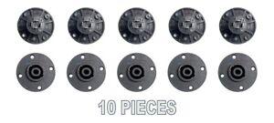 10 pack 4 Pole Pin Locking Speakon Round Chassis Mount Speaker Pro Audio X-1092