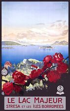Affiche chemin de fer Italiens - Lac Majeur
