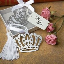 100 Silver Metal Princess Crown Bookmark Wedding, Shower, Birthday Gift Favors