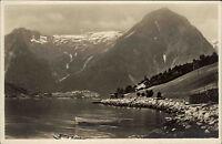 Essefjord Norwegen Norge Norway Postcard 1928 datiert Panorama Boot ungelaufen