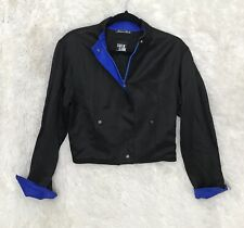 Womens State of Claude Montana Cropped Moto Jacket S/M Sleeve Zips Made Italy