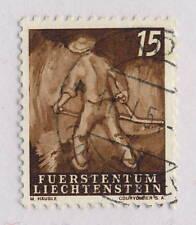 LIECHTENSTEIN - 1951 AGRICULTURE SERIES 15Rp MiNr.291 Oblitéré / Used